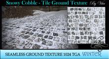 Vita's Textures - SNOWY TILES 3D Seamless 1024  2017