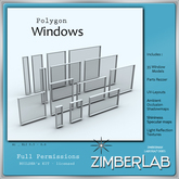 Mesh Windows 35 parts full perm - ZimberLab Window A1