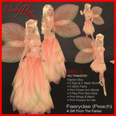 Nicky Ree Fairy Gowns - Faerydae (Peach)