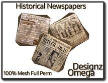 Historical Newspapers (WW2) 100% Mesh Full Perm