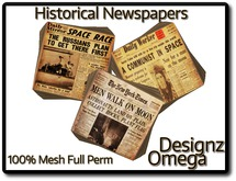Historical Newspapers (Cold War) 100% Mesh Full Perm