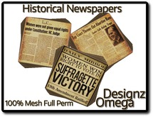 Historical Newspapers (Women Right) 100% Mesh Full Perm