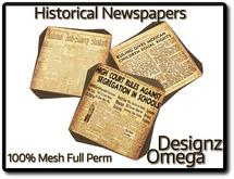 Historical Newspapers (Minorities Right) 100% Mesh Full Perm