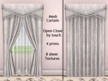 ALDA2 Silver Open-Close by touch 8 sheer Textures Mesh Curtain.