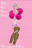 Teddy Bear Avatar Female with Balloons(Box)