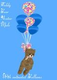 Teddy Bear Avatar Male with Balloons(Box)