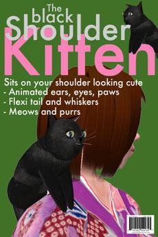 pet kitten (shoulder pet, black kitten by LOLO Pet Shop)