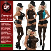 ! CM Creations, Chrystal Leather & Lace