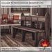 Trompe Loeil - Gillian Schoolhouse Bench PG [mesh]