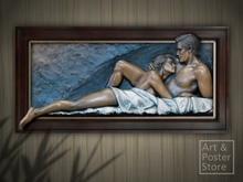 FOREVER Bill Mack | Part Framed Nude Bronze Relief Wall Hanging
