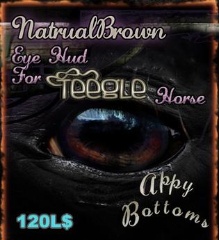 ~AppyBottoms~AppyLashies:: Teegle Natural Brown Eyes