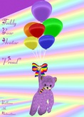 Teddy Bear Avatar Proud with Balloons(Box)