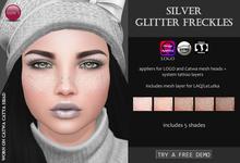 Izzie's - DEMO Silver Glitter Freckles