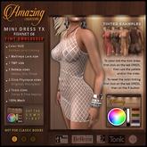AmAzInNg CrEaTiOnS Mini Dress Fishnet TX 08
