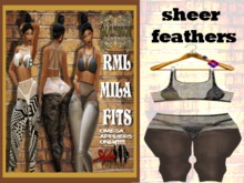 **NEW** RML MILA FIT--- SHEER FEATHERS FIT