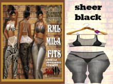 **NEW** RML MILA FIT---SHEER BLK