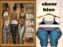 **NEW** RML MILA FIT---SHEER BLUE