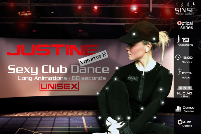 [SINSE] Justine Dance Volume 2 - Sexy Club Dance Unisex - Motion Capture Optical Series