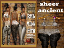 **NEW** RML MILA FIT---SHEER ANCIENT FIT