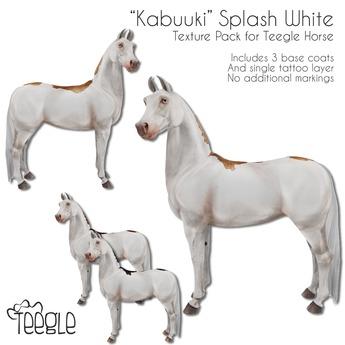 """[Teegle] """"Kabuuki"""" Splash White Skin for Teegle Horse"""