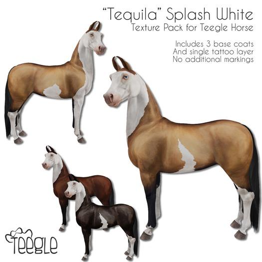 "[Teegle] ""Tequila"" Splash White Skin for Teegle Horse"