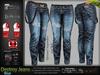 Destroy Female Women Blue Denim Ripped Jeans Pants - Mesh - Maitreya Lara, Slink Physique Hourglass, Belleza