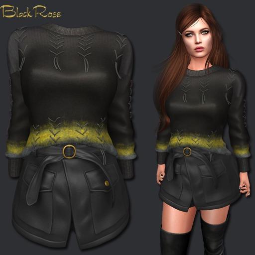 BlackRose Adelle Set Black