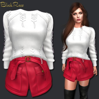 BlackRose Adelle Set Ghost White