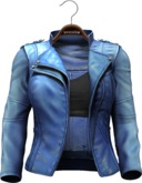 !APHORISM! Easy Rider Jacket Pale Blue - Women