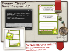 -W-[ Note Keeper Hud ] Froggy Green (mod/copy)