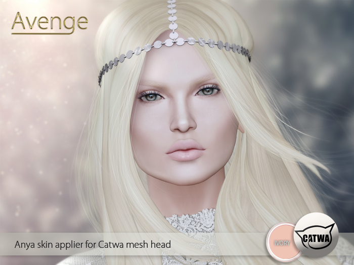 [Avenge] Anya albino skin applier for Catwa - ivory