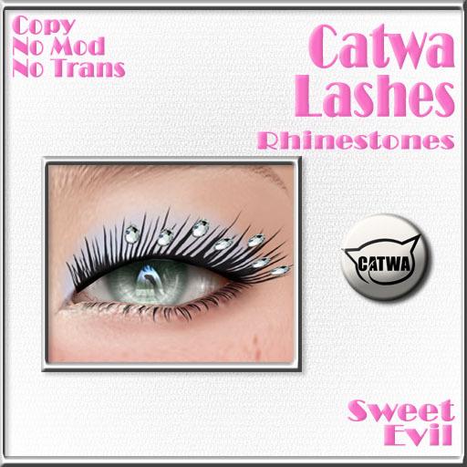 Sweet Evil - Catwa Lashes . Rhinestones