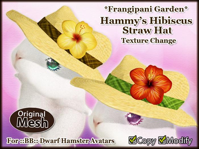 *FG* Hammy's Hibiscus Straw Hat [Texture Change]