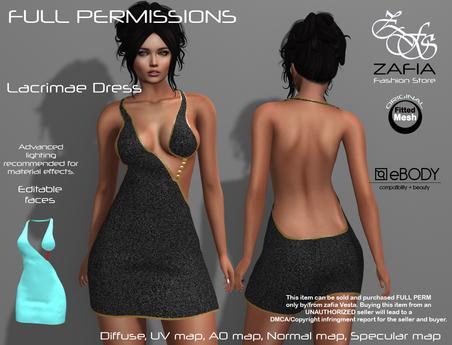 Full Perm-ZAFIA Lacrimae Dress-eBODY