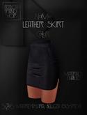 Ec.cloth - Leather Skirt - Black (add it)