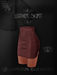 Ec.cloth - Leather Skirt - Brown (add it)