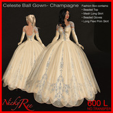 Celeste Ball Gown-Champagne
