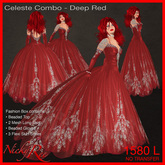 Nicky Ree Gowns - Celeste Combo-Deep Red