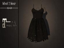 .::What2Wear::. Dress-Bella Black Paetes- Maitreya
