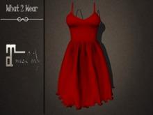 .::What2Wear::. Dress-Bella Red- Maitreya