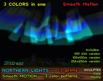 Aurora Borealis - Northern Lights with Smooth Motion in 3 Color Patterns + Off Sim version
