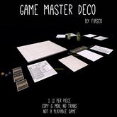 Fiasco - Game Master Deco