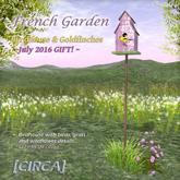 """[CIRCA] - """"French Garden"""" - Birdhouse & Goldfinches ~ GIFT"""
