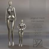Snowpaws - Gracie Mini Mannequin Avatars - Carbon