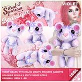 ~silentsparrow~ Violet - Bearoque! Teddy Bears <3 Toys Stuffed Animals Mesh