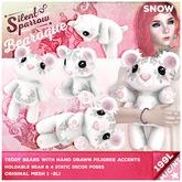 ~silentsparrow~ Snow - Bearoque! Bears <3 Teddy Bear <3 Toys Stuffed Animals Mesh