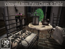 Wrought Iron Patio Chairs/Table COPY