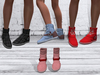 TF: ABC Ankle Sneaker Boots Pink Red