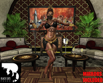 Black Cats poses - Belly dance 2 + mirror