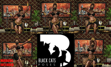 Black Cats poses - Belly dance FATPACK + mirrors